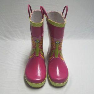 Kids Western Chief Butterfly Star-Pink Rain Boot